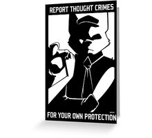 Report Thought Crimes Greeting Card