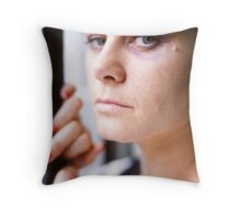 bruised. Throw Pillow