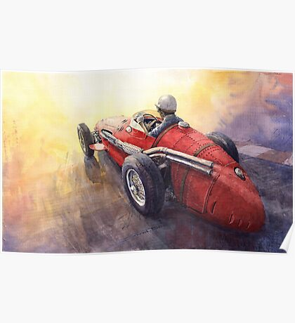 Light Racing Maserati 250 F Poster