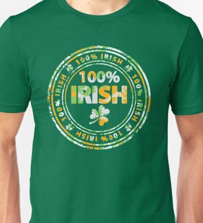 100% Irish Unisex T-Shirt