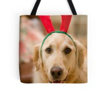 Golden Reindeer Tote Bag