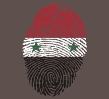 Syrian flag - fingerprint by BrewMasterMD
