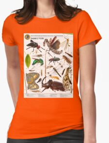 Insects of Gorongosa National Park, Mozambique Womens Fitted T-Shirt