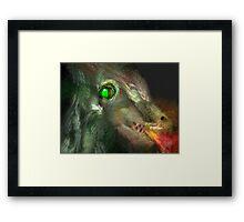 Fractal fire-breathing dragon Framed Print