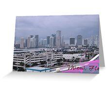 Skyline of Miami Greeting Card