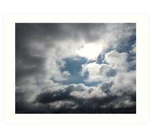 Blue Sky Shining Through Art Print