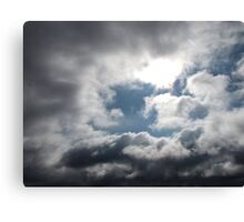 Blue Sky Shining Through Canvas Print