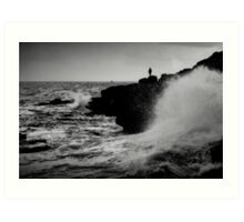 French Atlantic Coast - Storm Art Print