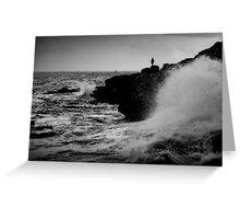 French Atlantic Coast - Storm Greeting Card