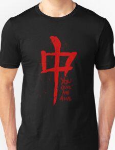 YOU OWE ME AWE - symbol Unisex T-Shirt