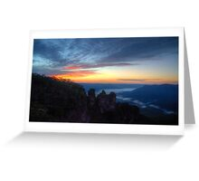 The Sisterhood - Blue Mountains World Heritage Area - The HDR Experience Greeting Card