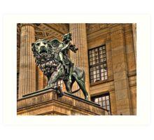 Impressive Statue In Berlin Germany Art Print