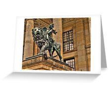 Impressive Statue In Berlin Germany Greeting Card