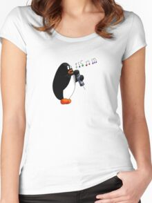 Singing Penguin Women's Fitted Scoop T-Shirt