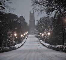 Snowy Morning on Chapel Drive by Alison Simpson