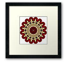 Kaleidoscope Crown 02 Framed Print