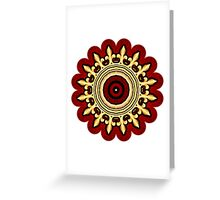 Kaleidoscope Crown 02 Greeting Card