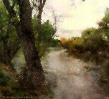 On the River by Sandra Bauser Digital Art