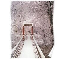 Old Mill Park Swinging Bridge Poster