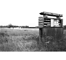Remembering Park Drive-In Photographic Print