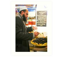Buying Olives at the Market in the Medina in Tunis Art Print