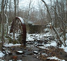 Old Mill site covered in snow by JPPhoto