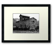 BW Old Barn Framed Print