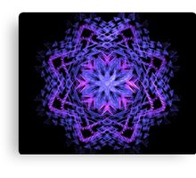 Purple Blue and Pink Star Fractal Canvas Print