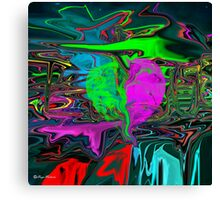 Total Eclipse of the Heart-Abstract -  Art + Products Design  Canvas Print