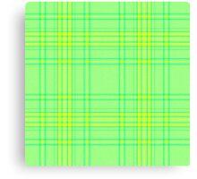 Green Plaide Canvas Print