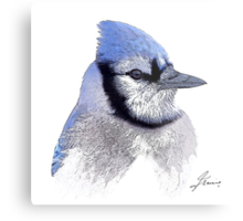 The Blue Profile 3 Metal Print