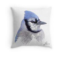 The Blue Profile 3 Throw Pillow