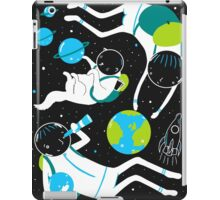 A Day Out In Space - Black iPad Case/Skin
