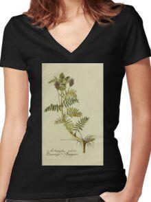 Plantarum Indigenarum et Exoticarum - Lukas Hochenleitter und Kompagnie 1788 - 371 Women's Fitted V-Neck T-Shirt