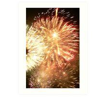 Fireworks New Years Eve - Sydney Australia Art Print