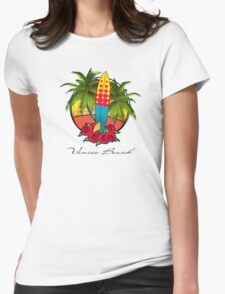 venice beach Womens Fitted T-Shirt