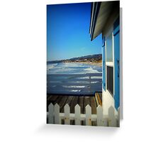 San Diego - Beach View From Crystal Pier Greeting Card
