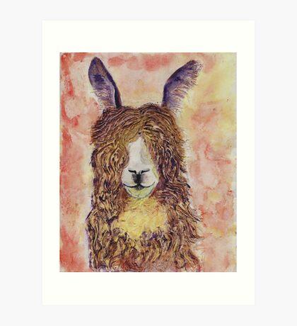 Happy Alpaca Art Print