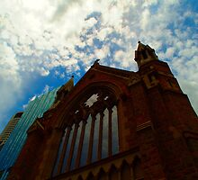 Cathederal and Highrises in Brisbane CBD by rjmp