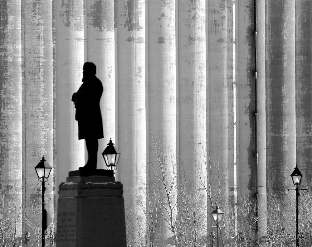 Silence in front of the silo's by Russ Styles