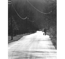 Walkin' Railroad Fork Photographic Print