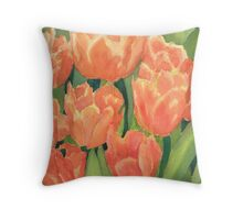 Citrus Tulips  Throw Pillow