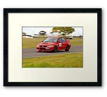 Mitsubishi Evo At Mallala Framed Print