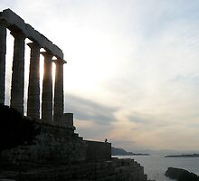 Sunset at Sounio by dimpdhab