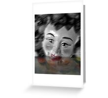 The Masking of Fear Greeting Card