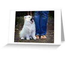 Yawn Greeting Card