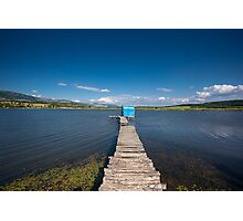 Dock on lake  Photographic Print