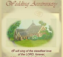 Wedding Anniversary Card - St Aiden's Church Exeter Psalm 89  by Phil413Jay