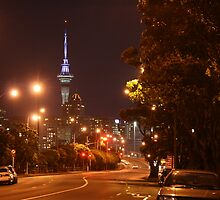 Auckland by night (2) photography, enigmatic, coppers, bronzes and olive colors, fabulous contrasts by Lorna Allan
