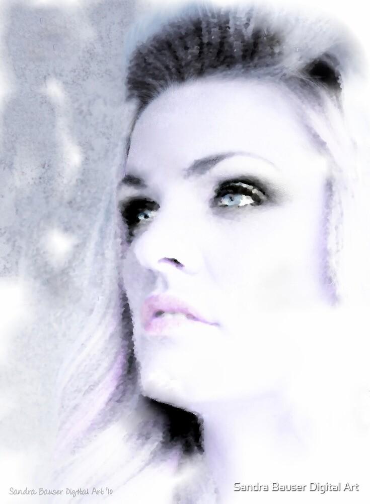 Blue Eyed Girl by Sandra Bauser Digital Art